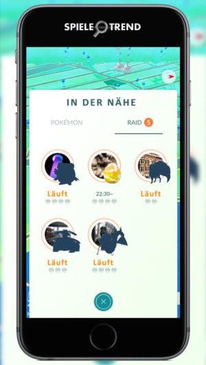 Raid Pokémon finden