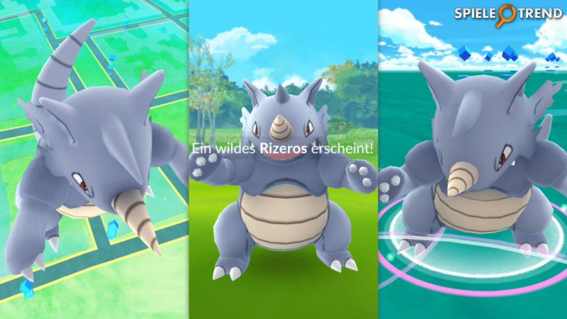 Pokémon GO Rizeros wild fangen