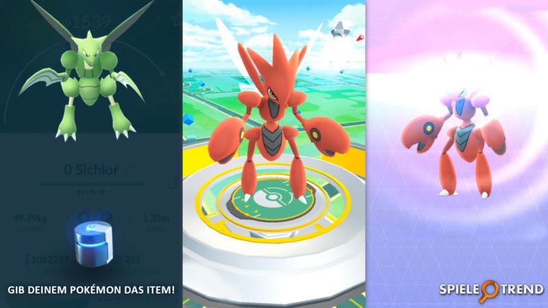 Pokémon GO Sichlor zu Scherox entwickeln