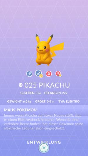 Shiny-Pikachu Pokédex Nummer 25