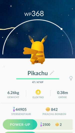 Pikachu in Pokémon GO