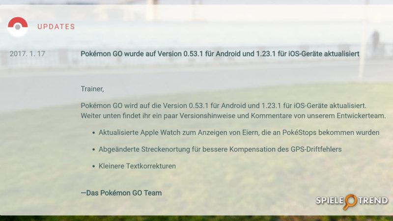 Pokémon GO Version 0.53.1 (Android)