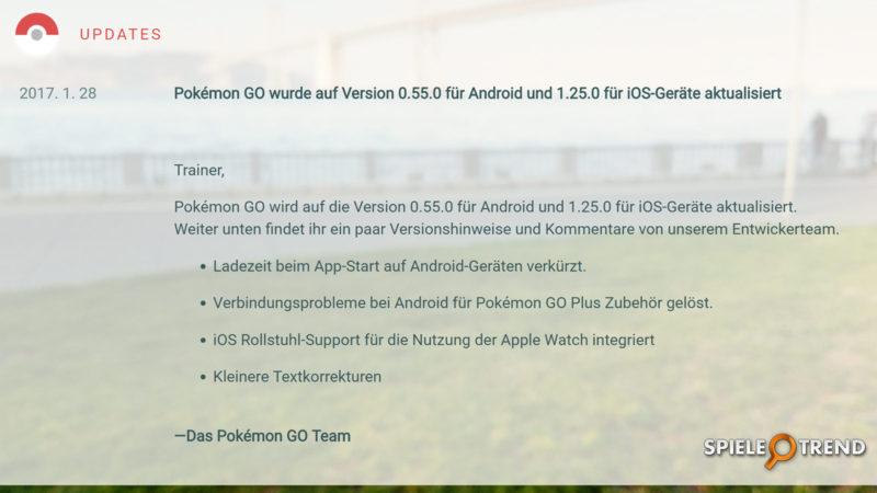 Pokémon GO Version 0.55.0 (Android)
