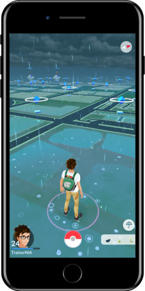 Pokémon GO Wetter Rainy