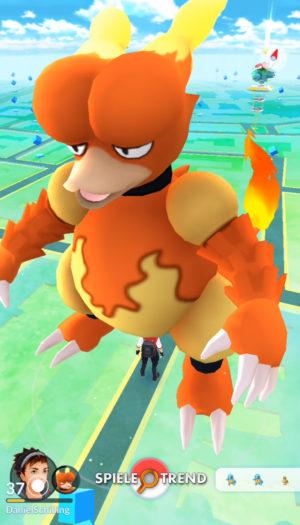Pokémon GO riesiges Magmar