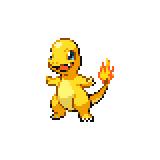 Pokémon Pokédex Nummer 4 Glumanda Shiny