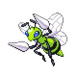 Pokémon Pokédex Nummer 15 Bibor Shiny