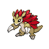 Pokémon Pokédex Nummer 28 Sandamer Shiny
