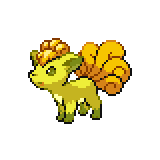 Pokémon Pokédex Nummer 37 Vulpix Shiny