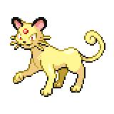 Pokémon Pokédex Nummer 53 Snobilikat Shiny