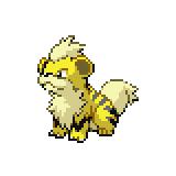 Pokémon Pokédex Nummer 58 Fukano Shiny