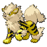 Pokémon Pokédex Nummer 59 Arkani Shiny