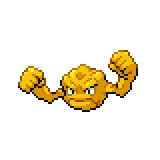 Pokémon Pokédex Nummer 74 Kleinstein Shiny