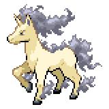 Pokémon Pokédex Nummer 78 Gallopa Shiny