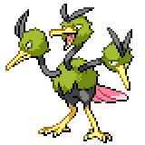 Pokémon Pokédex Nummer 85 Dodri Shiny