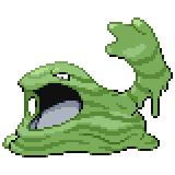 Pokémon Pokédex Nummer 89 Sleimok Shiny