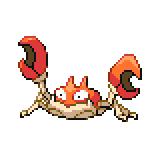 Pokémon Pokédex Nummer 98 Krabby