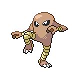 Pokémon Pokédex Nummer 106 Kicklee