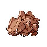 Pokémon Pokédex Nummer 111 Rihorn Shiny
