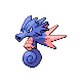 Pokémon Pokédex Nummer 117 Seemon Shiny