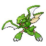 Pokémon Pokédex Nummer 123 Sichlor Shiny