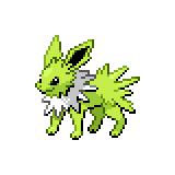 Pokémon Pokédex Nummer 135 Blitza Shiny