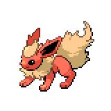 Pokémon Pokédex Nummer 136 Flamara