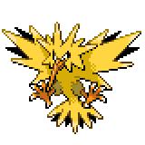 Pokémon Pokédex Nummer 145 Zapdos