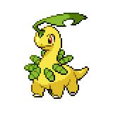 Pokémon Pokédex Nummer 153 Lorblatt