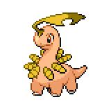Pokémon Pokédex Nummer 153 Lorblatt Shiny