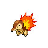 Pokémon Pokédex Nummer 155 Feurigel Shiny