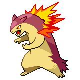 Pokémon Pokédex Nummer 157 Tornupto Shiny
