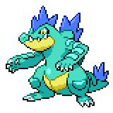 Pokémon Pokédex Nummer 160 Impergator Shiny