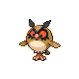 Pokémon Pokédex Nummer 163 Hoothoot