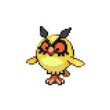 Pokémon Pokédex Nummer 163 Hoothoot Shiny