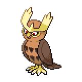 Pokémon Pokédex Nummer 164 Noctuh