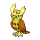 Pokémon Pokédex Nummer 164 Noctuh Shiny