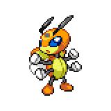 Pokémon Pokédex Nummer 166 Ledian Shiny
