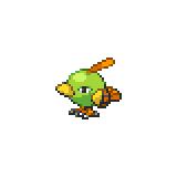 Pokémon Pokédex Nummer 177 Natu Shiny