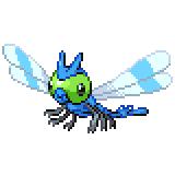 Pokémon Pokédex Nummer 193 Yanma Shiny