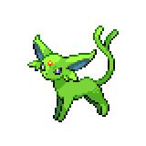 Pokémon Pokédex Nummer 196 Psiana Shiny