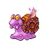 Pokémon Pokédex Nummer 219 Magcargo Shiny