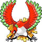 Pokémon Pokédex Nummer 250 Ho-Oh