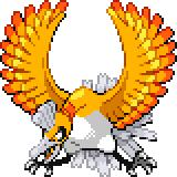 Pokémon Pokédex Nummer 250 Ho-Oh Shiny