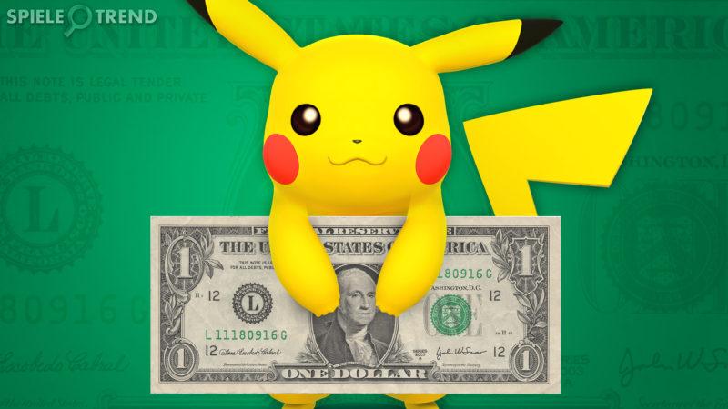 Pikachu verdient Geld mit PokéStops