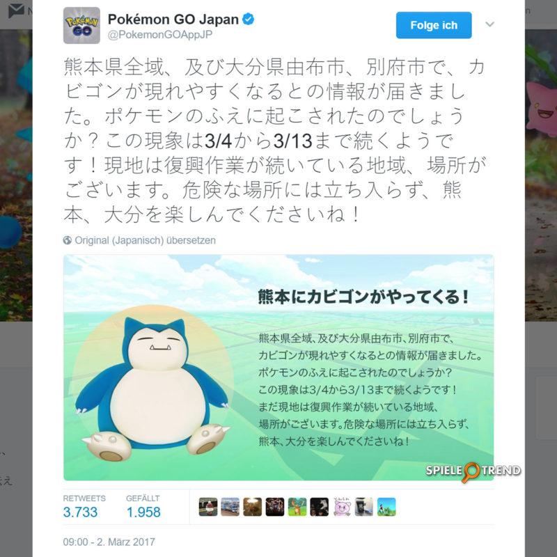 Relaxo Event in Pokémon GO