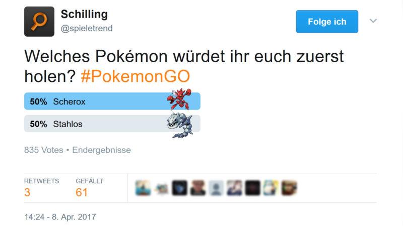Scherox vs Stahlos Umfrage auf Twitter