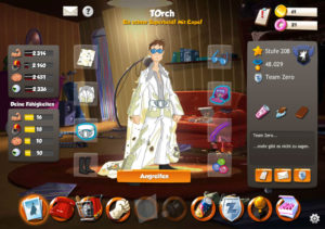 Screenshots zum Browsergame Hero Zero