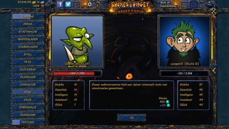 Goblin gegen Gnom