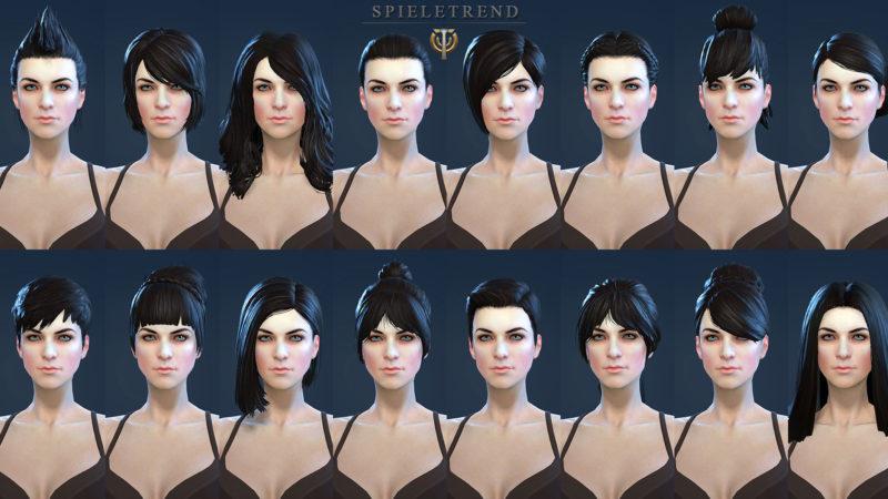 Skyforge Charaktererstellung und Frisuren